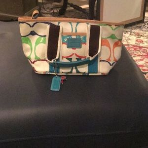 Coach Signature Cloth Bag - carried once or twice